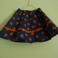 Tiger paws swirly skirt
