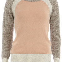 Grey colour block jumper - Knitwear & Cardigans - New In Clothing  - What's New