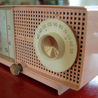 Fabulous PINK 1959 GE Clock Radio