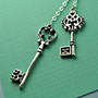 Skeleton Keys Lariat in Sterling Silver Vintage by IlluminaJewelry