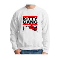 Amazon.com: Kitty Gang Crewneck OFWGKTA Odd Future Tyler Creator Hello Taylor Gang illest Wiz Mac Cute Sexy Crewneck Sweatshirt: Clothing
