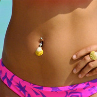 Sunrise Shell BELLY BUTTON RING