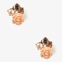 Bejeweled Rose Studs