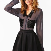 Overshadow Sequin Blouse