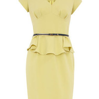 Lemon peplum dress