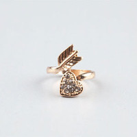 FULL TILT Heart/Arrow Wrap Ring   212385621 | Rings | Tillys.com