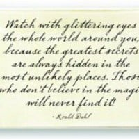 Ben&#x27;s Garden, Inc. - Glittering Eyes Quote Glass Tray