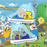 Adventure Time Hand Painted High Tops