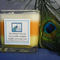 Very Vanilla Pumpkin Souffle Candy Corn Scented Soy Candle