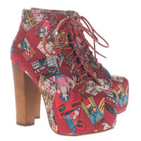 JEFFREY CAMPBELL  Lita Cartoon Red Platform booties  - What&#x27;s new