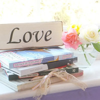 Wooden Sign Inspirational Words Love Room Decor