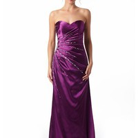 Buy Purple Satin Evening Dresses From VERB