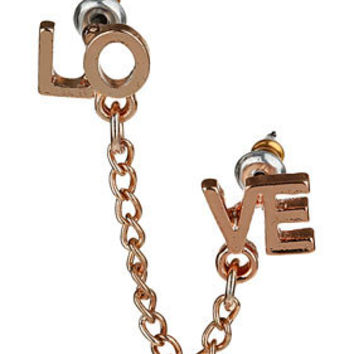Double Love Chain Earring - Jewelry  - Accessories