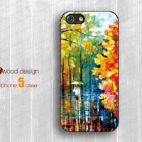 iphone 5 cases NEW iphone 5 case iphone 5 cover the best iphone case paint rain and tree image unique design