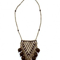 Awajn Beaded Necklace Black