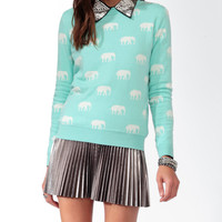 Ditsy Elephant Sweater