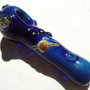 Glass Pipe with Outer Space Glow In the Dark Shooting Stars And Saturn Planet