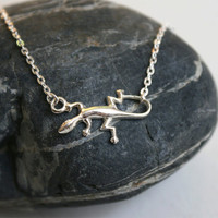Gecko Necklace / Reptile Necklace