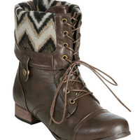 Foldover Combat Boot (Wide Width) | Shop Shoes at Wet Seal