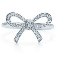 0.10 CT F-G/VS NATURAL ROUND BRILLIANT DIAMOND BOW FASHIONABEL RING WHITE GOLD | eBay