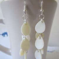 White Teardrop Earrings