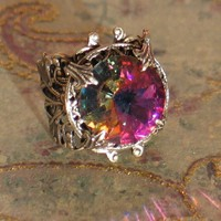 Hallowed Ground - Sacred Forest Swarovski Rivoli Jewel Ring
