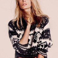Free People Cropped Fairisle Pullover at Free People Clothing Boutique