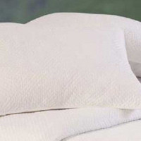 Atlantic Shells Hampton White Euro Sham | Atlantic Linens