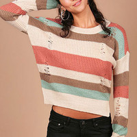 Fray Met Sweater | Trendy Knits at Pink Ice