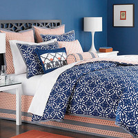 Martha Stewart Collection Bedding, Ringtrace 6 Piece Queen Duvet Cover Set - Bed in a Bag - Bed & Bath - Macy's