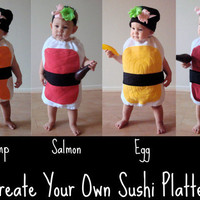 $65.00 Delicious Nigiri Sushi Kids Halloween Costume by NotTheKitchenSink