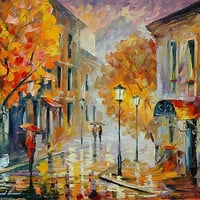 """ETUDE IN RED - LEONID AFREMOV"" by Leonid Afremov 