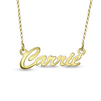 18K Gold Plate Script Name Necklace (12 Letters) - View All Necklaces - Zales
