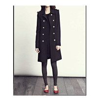 Black Trench Coat - FM908
