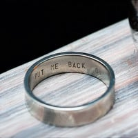 Put Me Back On Engraved Ring