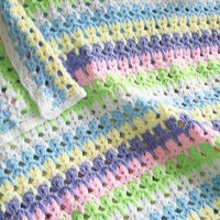 Colorful Kittens Baby Afghan - Made to order in your choice of colors