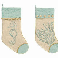 Natural Shells Stocking (Pair) | OceanStyles.com
