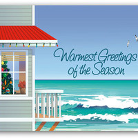 Beach House Boxed Christmas Cards | OceanStyles.com
