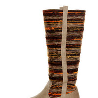 Sbicca El Dorado Taupe Multi Striped Riding Boots