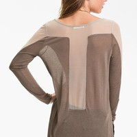 Lush Mesh Panel Top (Juniors) | Nordstrom