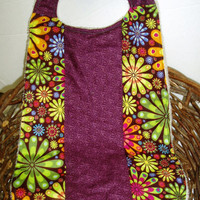 X-Large Toddler Bib - Hippie Chic Patchwork Bib