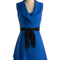 Loyal Blue Dress | Mod Retro Vintage Printed Dresses | ModCloth.com