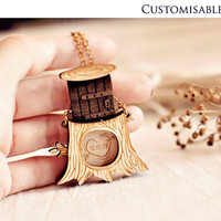 Personalized message in tree necklace - Christmas gifts under 30 - Secret Hollow locket