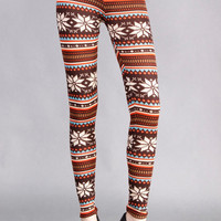 Brown Aztec Print Woolen Leggings for Women. Perfect  for Fall/ Winter/ Holidays 2012