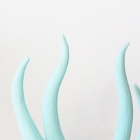 Pale Mint Green Deer Antler Bobby Pins