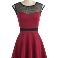 Belle in Burgundy Dress | Mod Retro Vintage Dresses | ModCloth.com