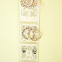 Distressed Jewelry Holder, Necklace Hanger, Earring Display, Ring Display, Cottage Chic