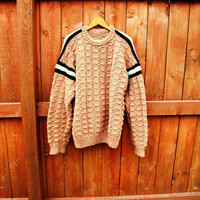 vintage chunky, oversized grandpa sweater. XL. fall fashion. unisex sweater