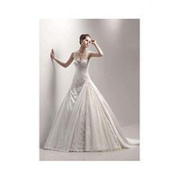 Ruched Bodice Ball Gown Wedding Dress Shoulder Straps Noble Design - Cheap Wedding Dresses
