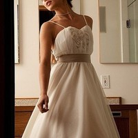 Knee length wedding dress by lilleycouture on Sense of Fashion